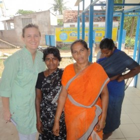 2011 Acumen Fund Fellow, Brenda Williams, alongside a schoolteacher and community health educator