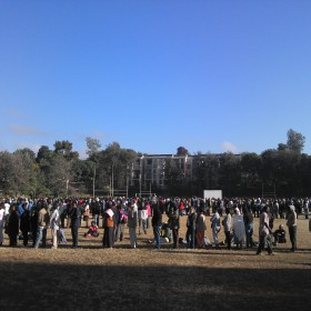 Kenyans waited in line for several hours to cast their vote in the election on Monday.