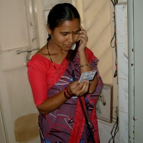 India woman phone
