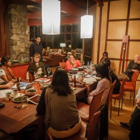 Global Fellows discussing the readings in October of 2013