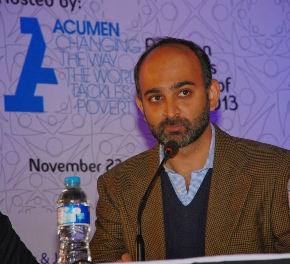 Mohsin Hamid speaks at the conference